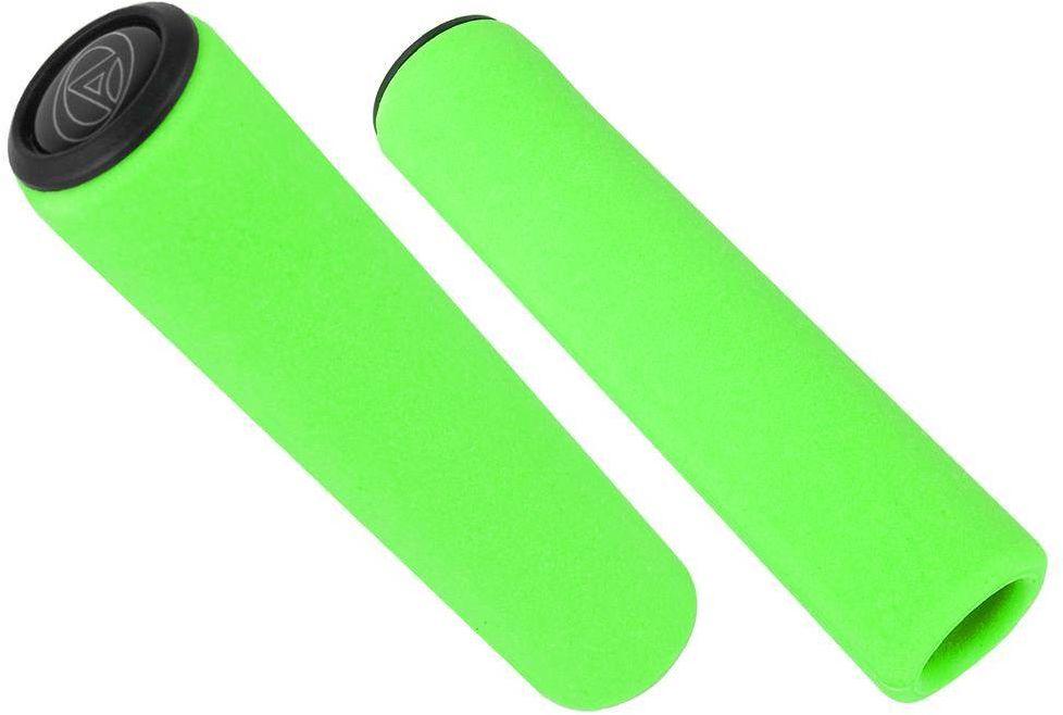Chwyty kierownicy Author AGR Silicone Elite 129 mm, zielone fluo