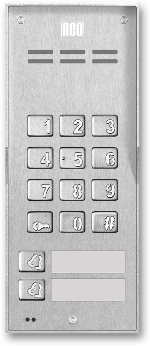 FAM-P-2NPZS NT Domofon cyfrowy z zamkiem szyfrowym i 2 przyciskami