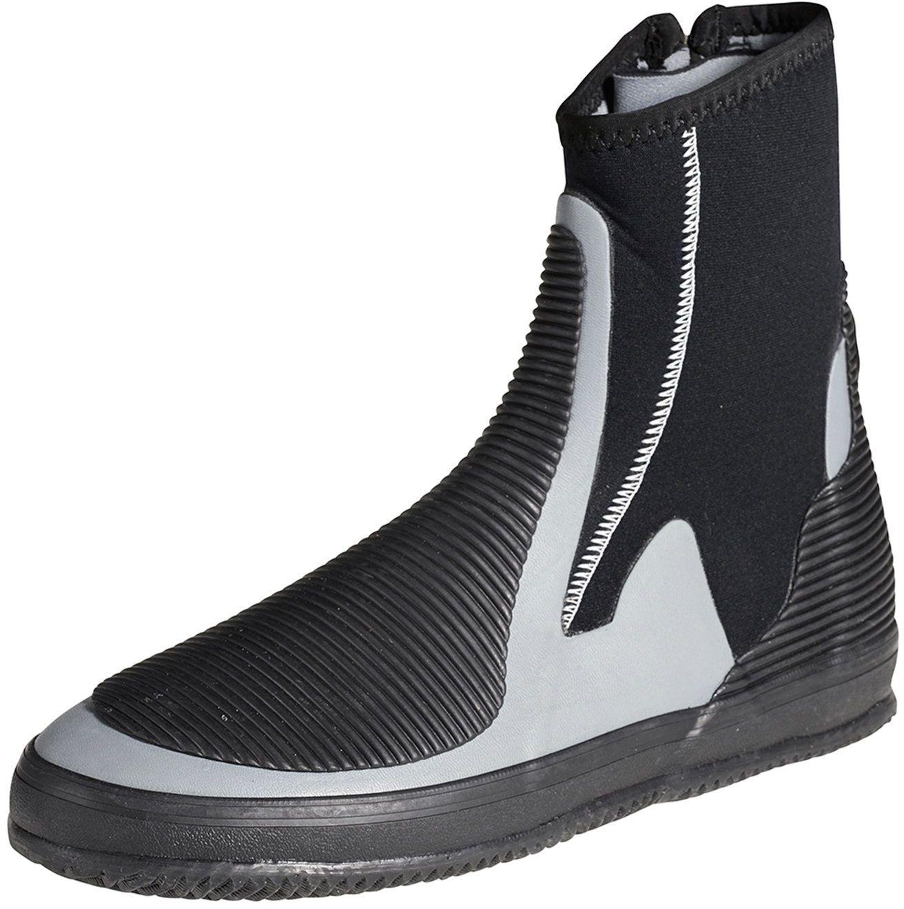 Crewsaver Kombinezon neoprenowy z boku buta z zamkiem błyskawicznym o grubości 5 mm. Buty unisex  zaprojektowane z myślą o ciepło i wytrzymałości.  formowana podeszwa High Grip
