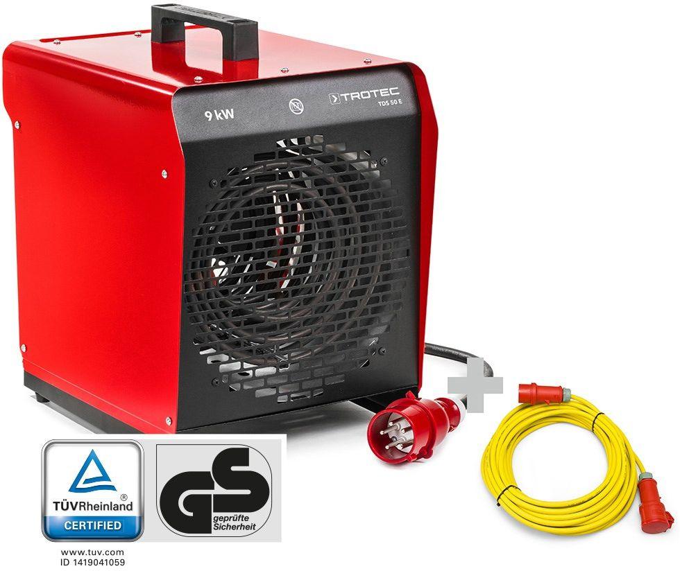 Nagrzewnica elektryczna nadmuchowa TDS 50 E + Przedłużacz Profi 20 m / 400 V / 2,5 mm
