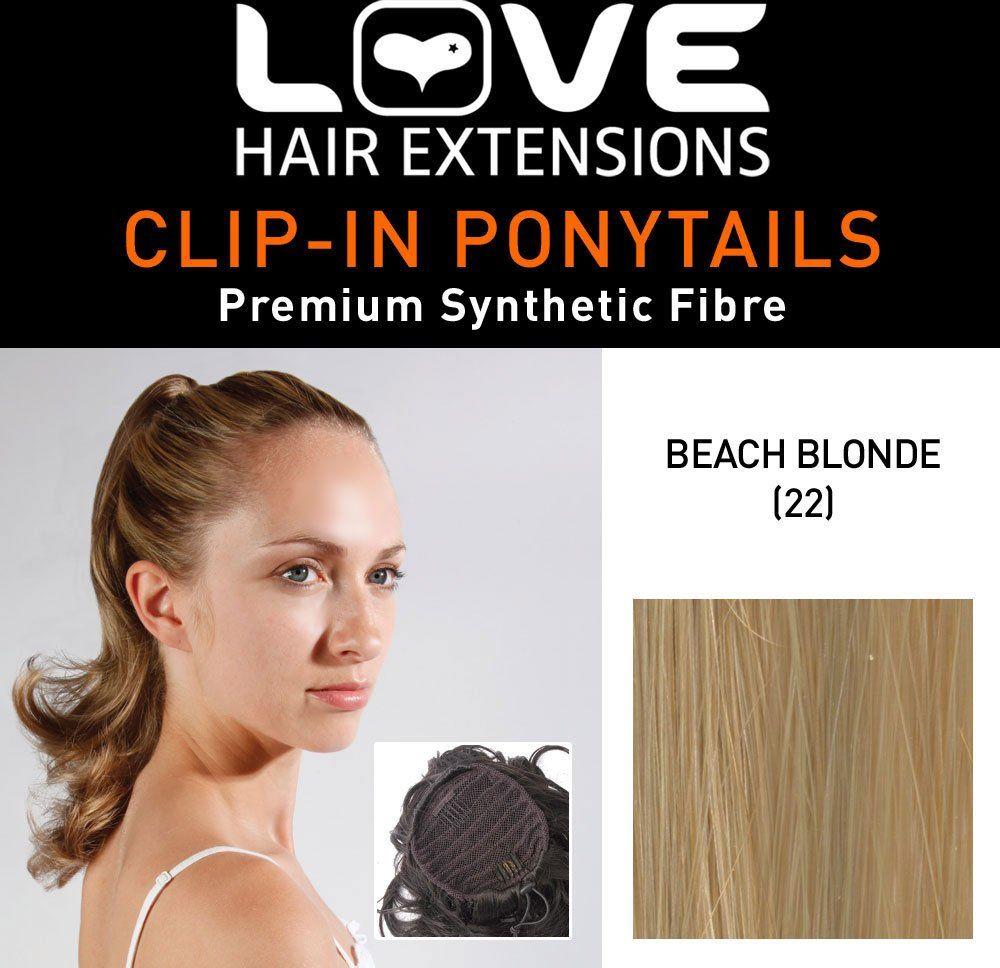 Love Hair Extensions Percilla sznurek syntetyczne włosy koński ogon kolor 52 plaża blond 40 cm