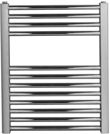 Grzejnik łazienkowy york - wykończenie proste, 500x600, chromowany