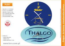 Zegar reklamowy na bazie Plexi