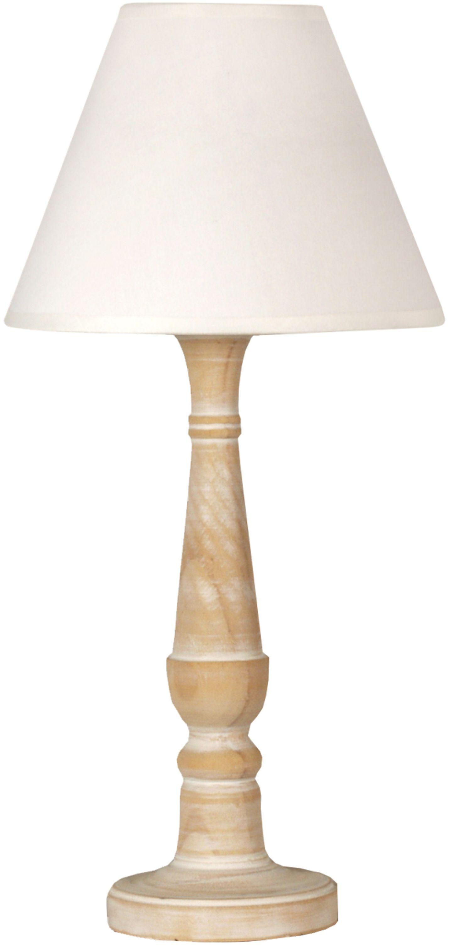 Candellux FOLCLORE 1 41-80724 lampa stołowa abażur biała 1X40W E14 20 cm