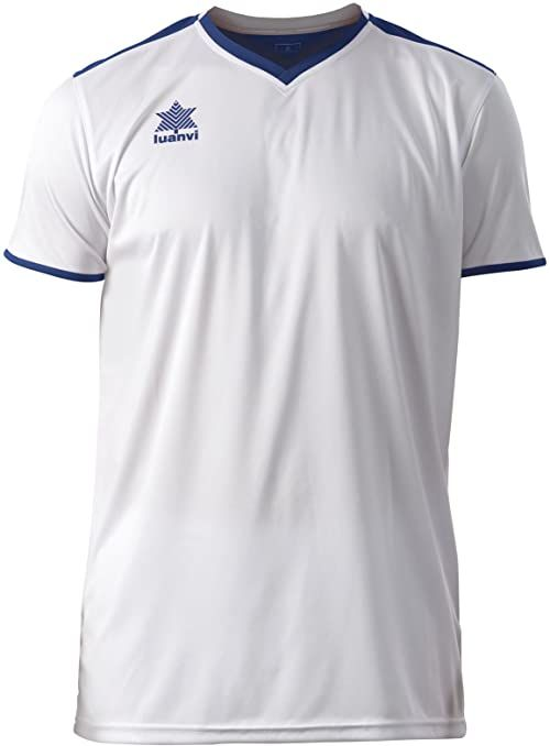 Luanvi Męski T-shirt Match z krótkimi rękawami. biały Weiß (0001) XXS