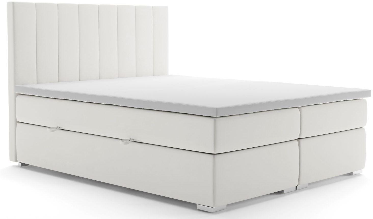 Podwójne łóżko boxspring Kongo 140x200 - 58 kolorów