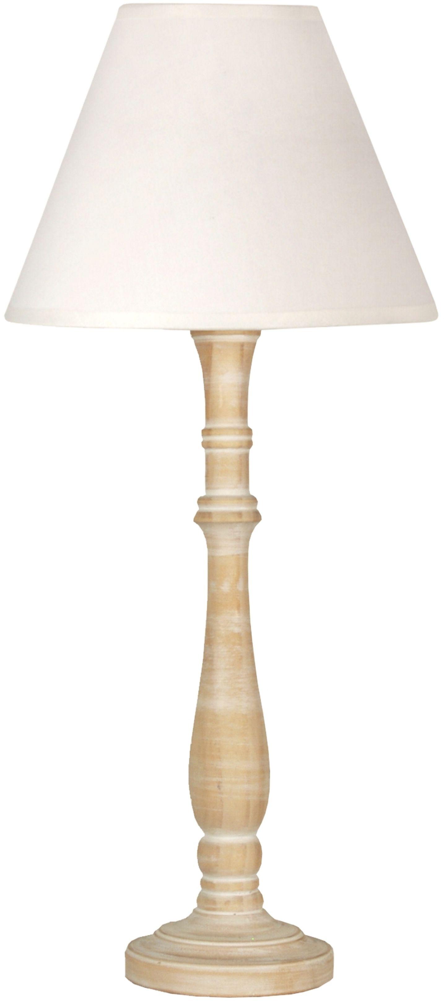 Candellux FOLCLORE 5 41-80748 lampa stołowa abażur biała 1X60W E27 20 cm