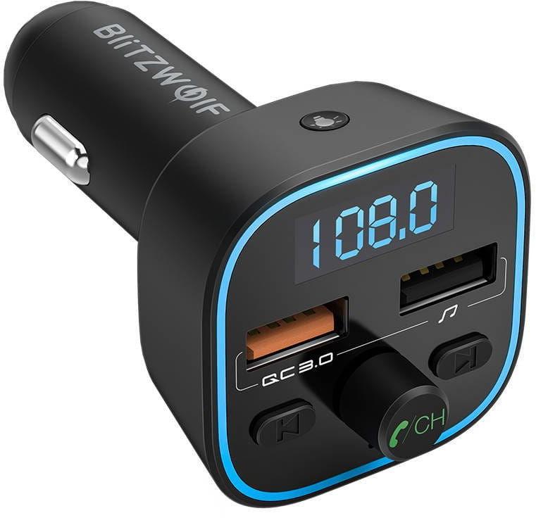 Transmiter Bluetooth 5.0 BlitzWolf BW-BC1, 2x USB + MicroSD