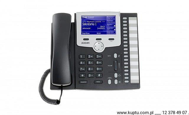 Telefon systemowy Slican CTS-330.IPBT-BK