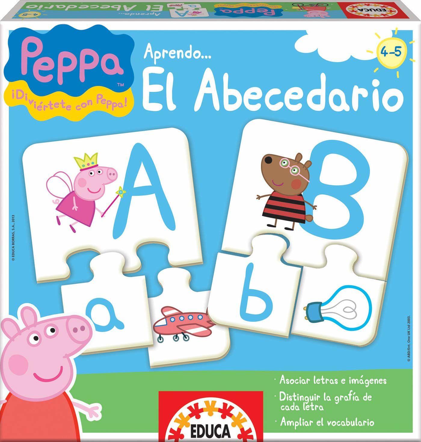 Educa Borras 15652 Peppa puzzle do nauki alfabetu (w języku hiszpańskim)