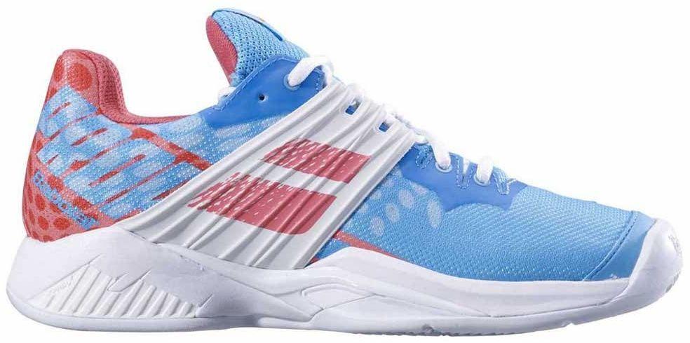 Babolat Propulse Fury Clay damskie buty do tenisa Sky Blue Pink 36 EU