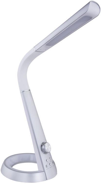 Globo MITTI 58376S lampa stołowa srebrno biała flex USB LED 8W 3000-6000K 64cm