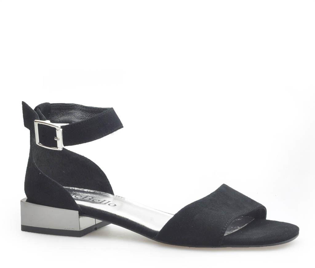 Sandały CheBello 2416/K-037 Czarne zamsz