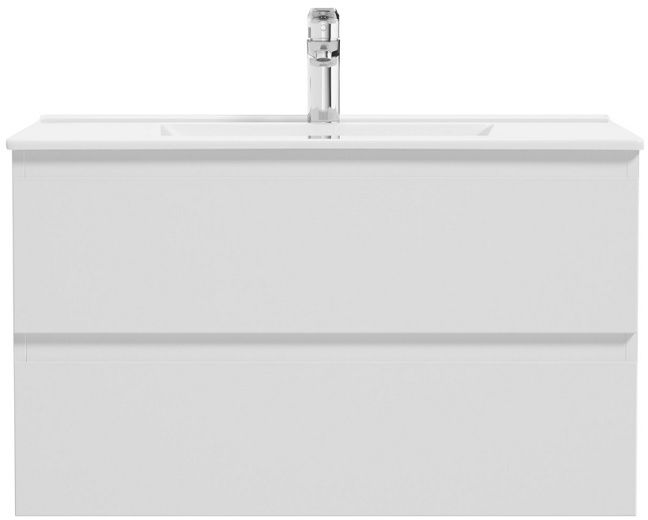 Oltens Vernal szafka 80 cm podumywalkowa wisząca biały połysk 60003000