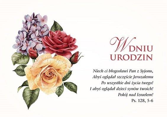 Kartka składana Urodziny 5 - Niech ci błogosławi Pan z Syjonu