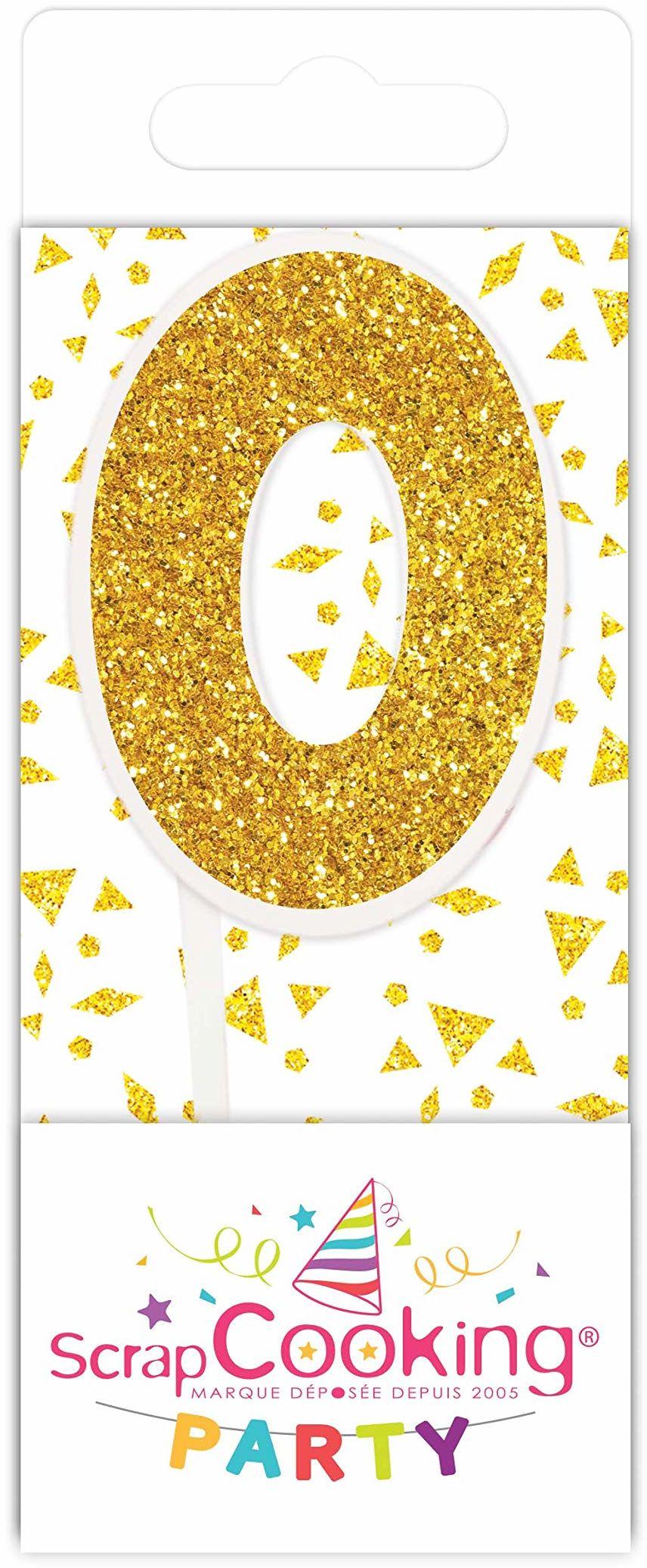 Scrapcooking 0590 mini świeca, kolor złoty 0