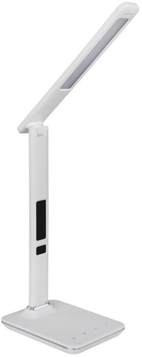Globo TANNA 58378W lampa stołowa biała zegar data termometr LED 7W 3000-5500K 52,8cm