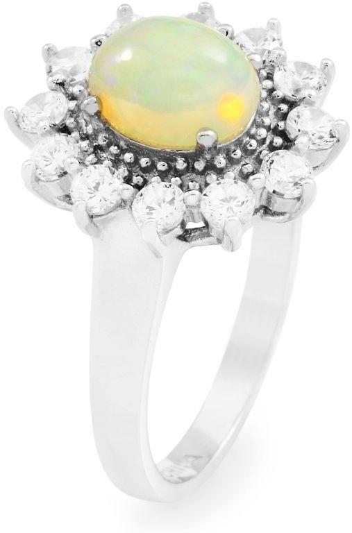Biżuteria damska Gemstone Jewellery Ethiopian Opal Cluster Ring Size L G0111R-EO-L