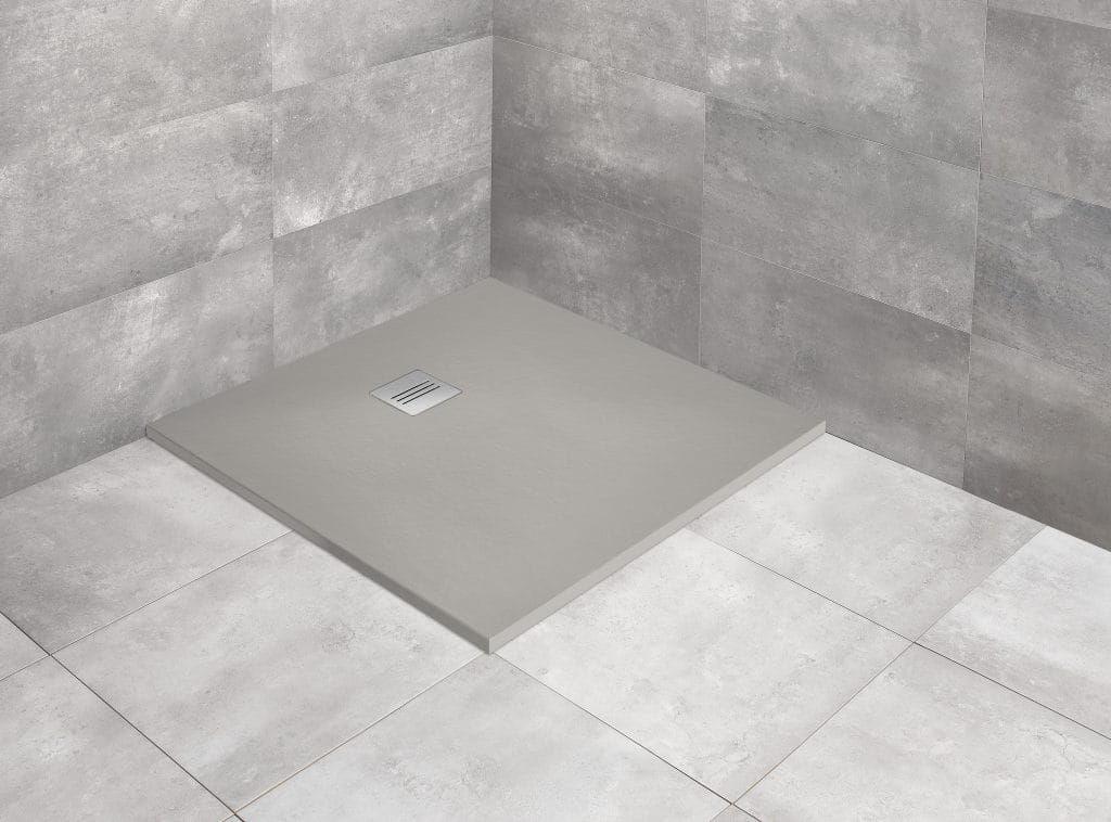 Radaway brodzik z konglomeratu Kyntos C cemento 80x80 cm HKC8080-74