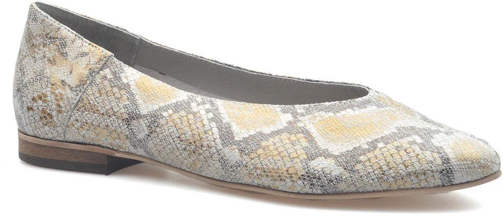 Baleriny CheBello 2435-158 Beżowe wąż zamsz