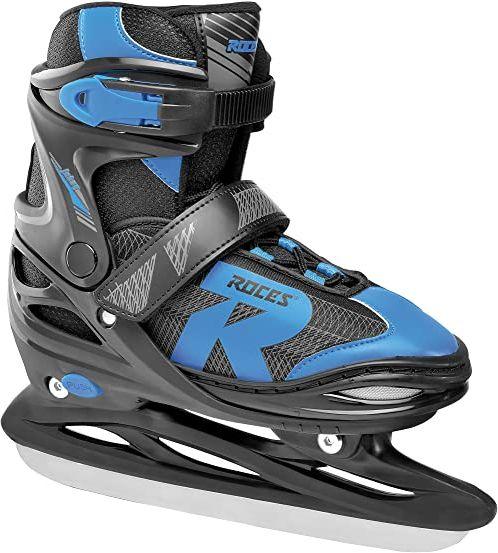 Roces Dziecięce łyżwy Jokey Ice 2.0, regulowane, czarne/Astro Blue, 30-33