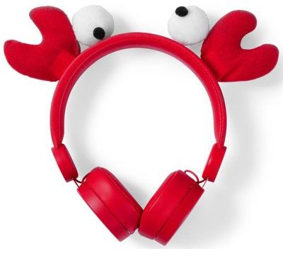 Słuchawki NEDIS Chrissy Crab Czerwony