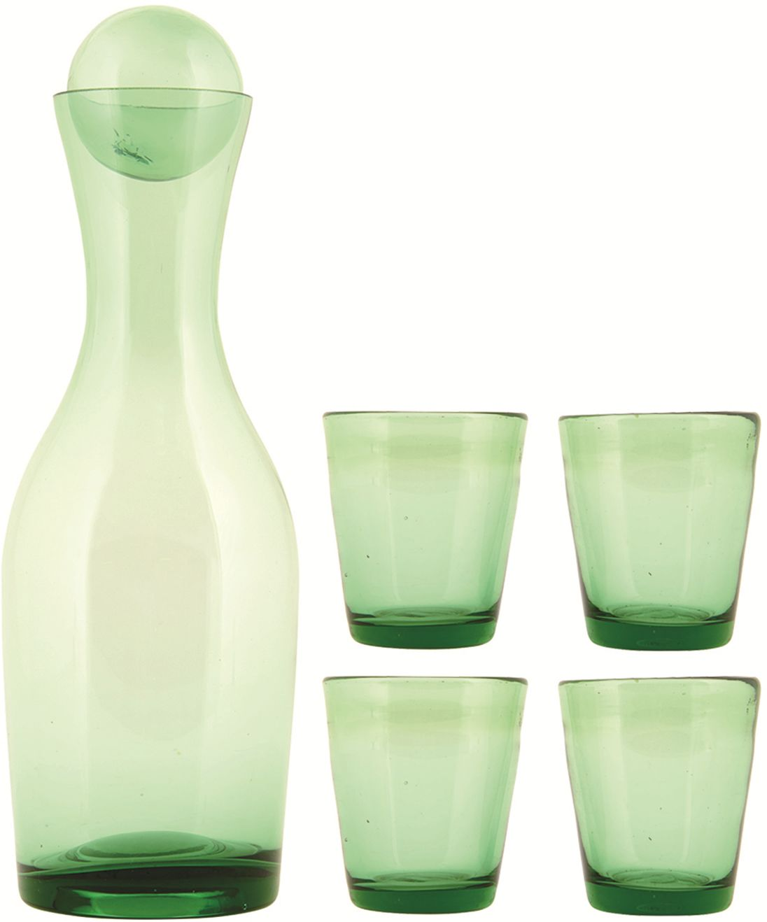Zielony Giftbox Karafka Plus Szklanki 4 szt.