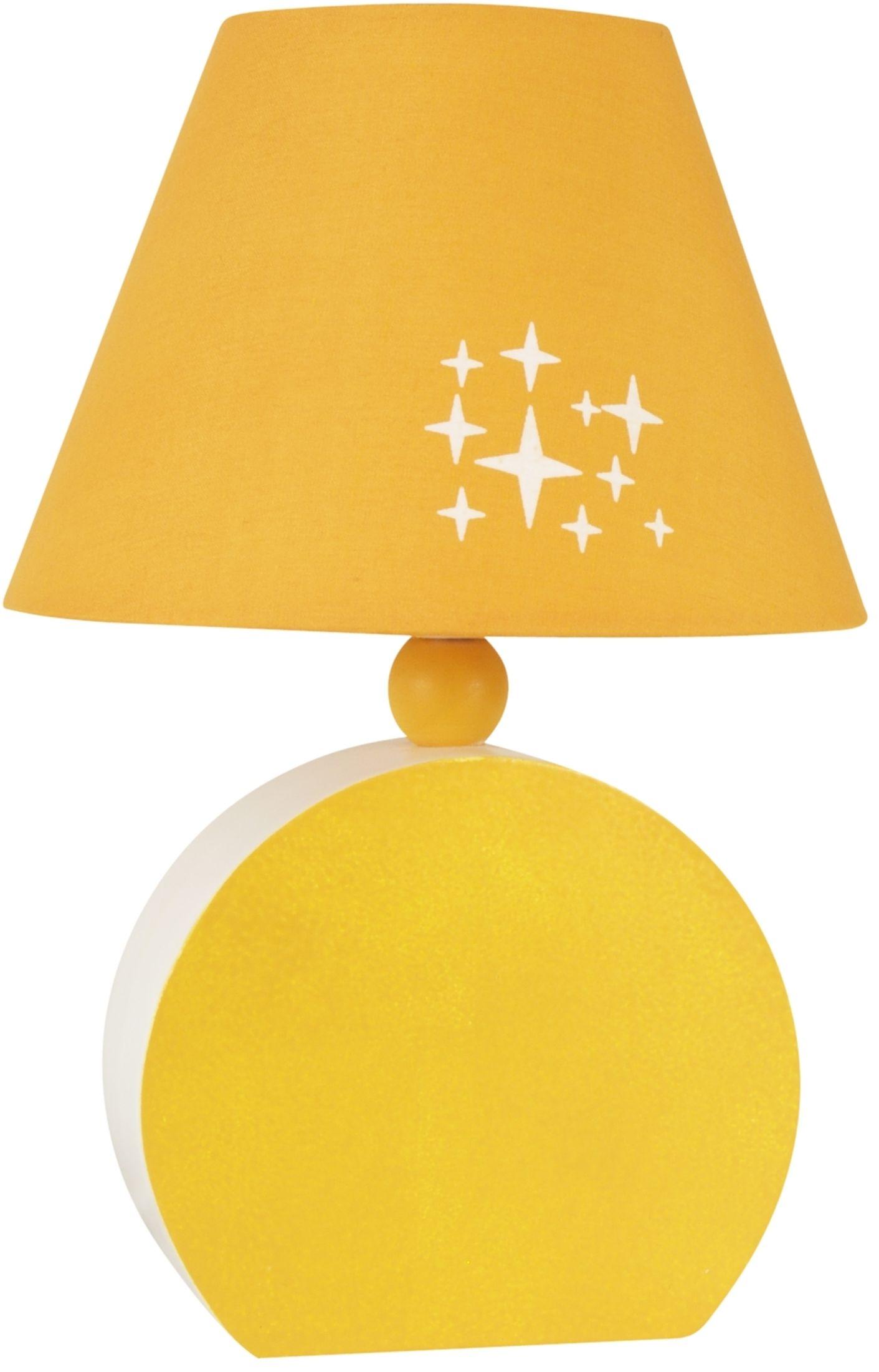 Candellux OFELIA 41-62478 lampa stołowa abażur tkanina pomarańczowy 1X40W E14 18 cm