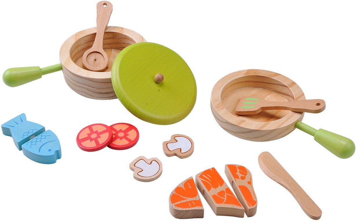 EverEarth Zestaw drewnianych garnków i patelni dla dzieci EE33718