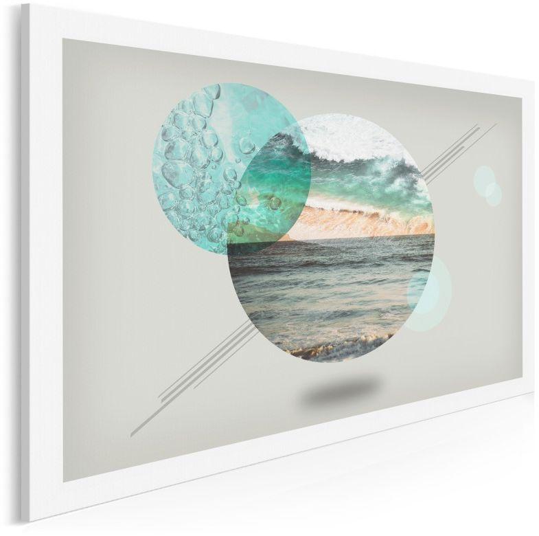 Morze słów, ocean milczenia - nowoczesny obraz do sypialni - 120x80 cm