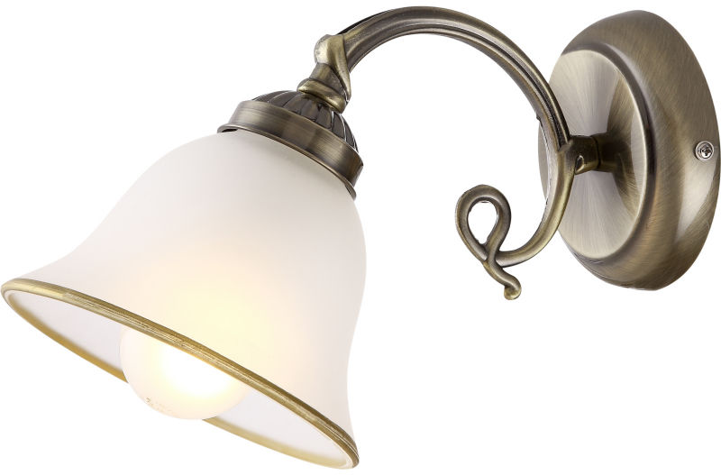 Globo ODIN 60208W kinkiet lampa ścienna stare złoto 1xE27 16cm