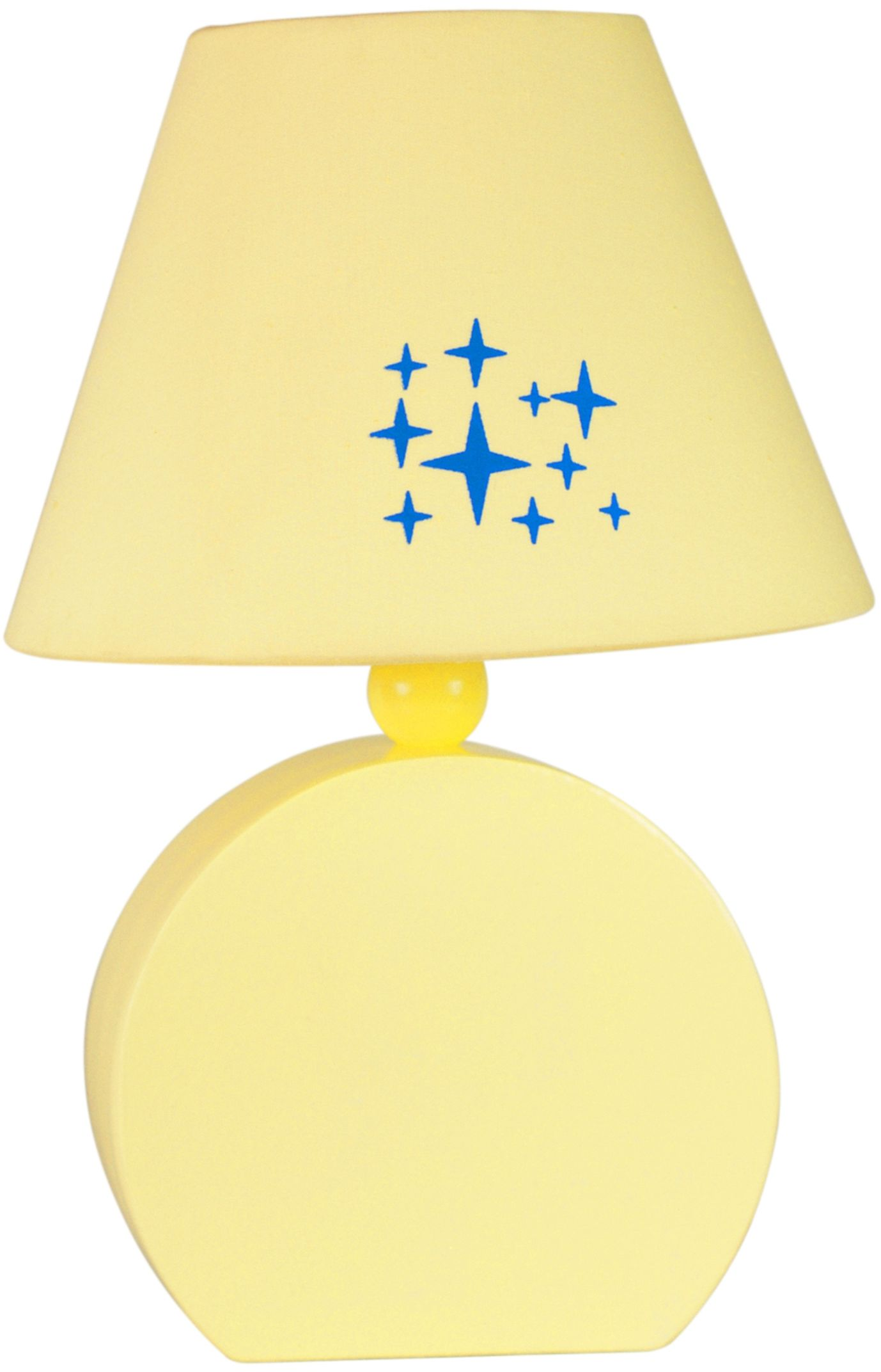 Candellux OFELIA 41-62492 lampa stołowa abażur tkanina żółty 1X40W E14 18 cm