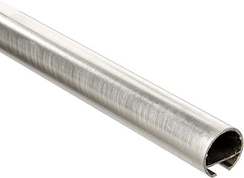 Gardinia karnisz z wewnętrzną szyną I Ø 20 mm wygląd stali szlachetnej 120 cm