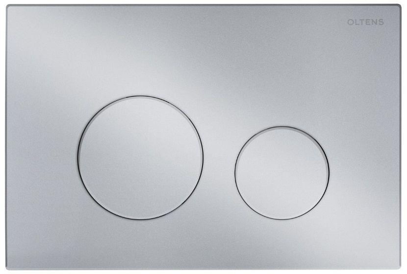 Oltens Lule przycisk spłukujący do WC chrom matowy 57102200
