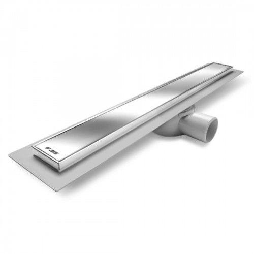 Odpływ liniowy 80x10,9 cm cm syfon obracany 360 stopni, odejście 50 mm ,chrom