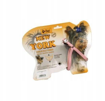 """DINGO Szelki Dla Yorka """"New York"""" - Różowe"""