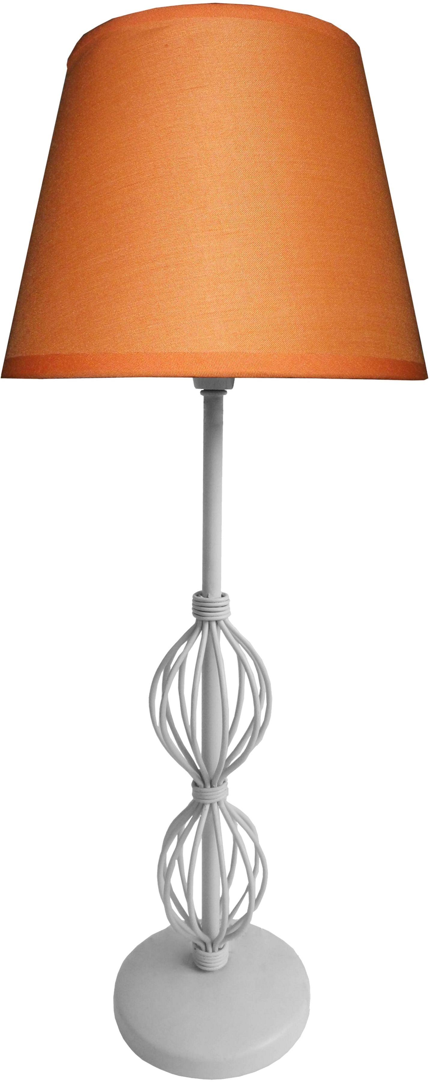 Candellux ROSETTE 2 41-99580 lampa stołowa abażur tkanina pomarańczowy + rozeta dekoracyjna 1X40W E14 18 cm