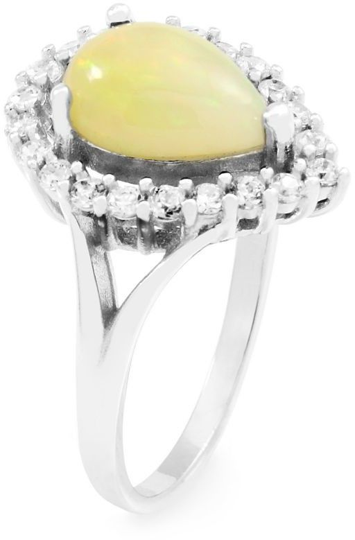 Biżuteria damska Gemstone Jewellery Ethiopian Opal Pear Cluster Ring Size N G0119RB-EO-N