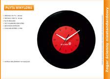 Zegar reklamowy płyta vinylowa