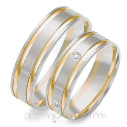 Obrączki ślubne Złoty Skorpion  wzór OE104