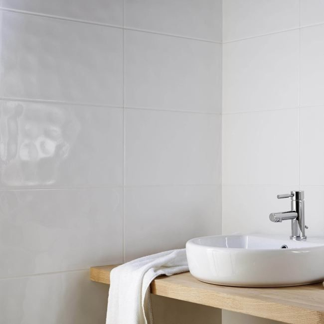 Dekor Alexandrina Cersanit 25 x 40 cm biały 1,2 m2