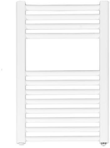 Grzejnik łazienkowy wetherby v - grzejnik elektryczny, wykończenie proste, 400x600, biały
