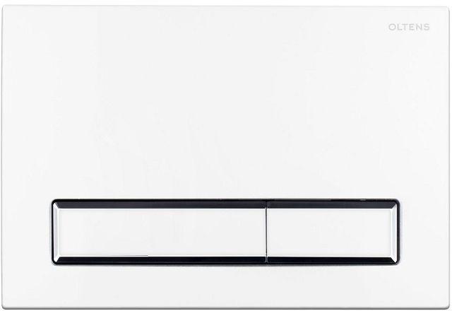 Oltens Torne przycisk spłukujący do WC chrom biały 57103000