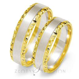 Obrączki ślubne Złoty Skorpion  wzór OE213