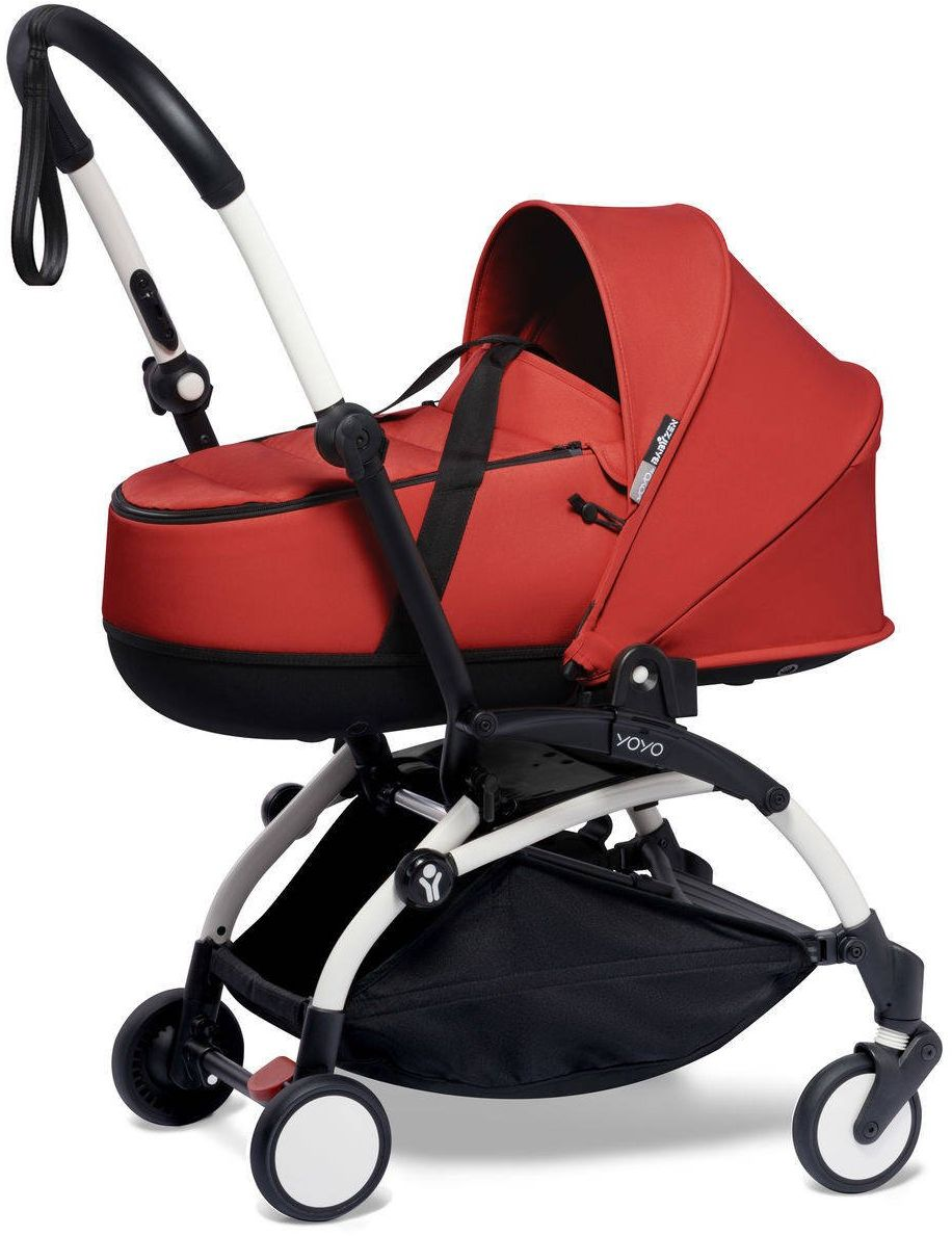 BABYZEN YOYO - zestaw biała rama + gondola - Red