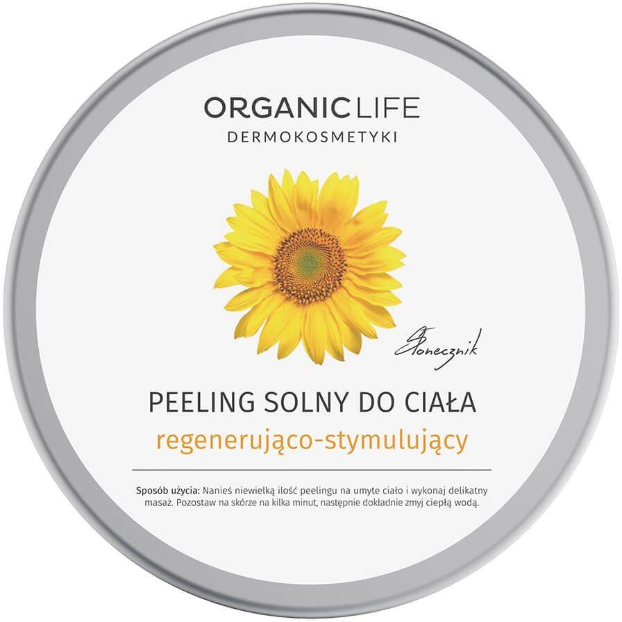 Peeling Solny do Ciała 150 g Regenerująco-Stymulujący Słonecznik Organic Life
