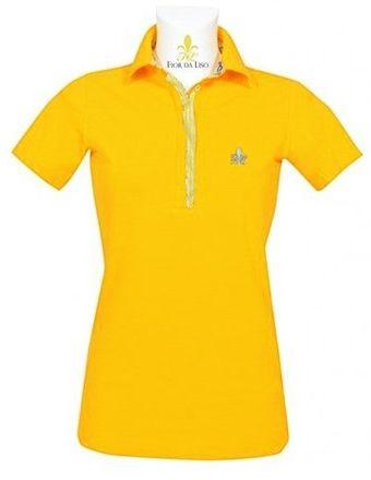 Koszulka polo CLASSIC NEW damska - FIOR DA LISO - yellow
