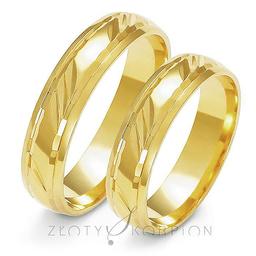 Obrączki ślubne Złoty Skorpion  wzór Au-A129