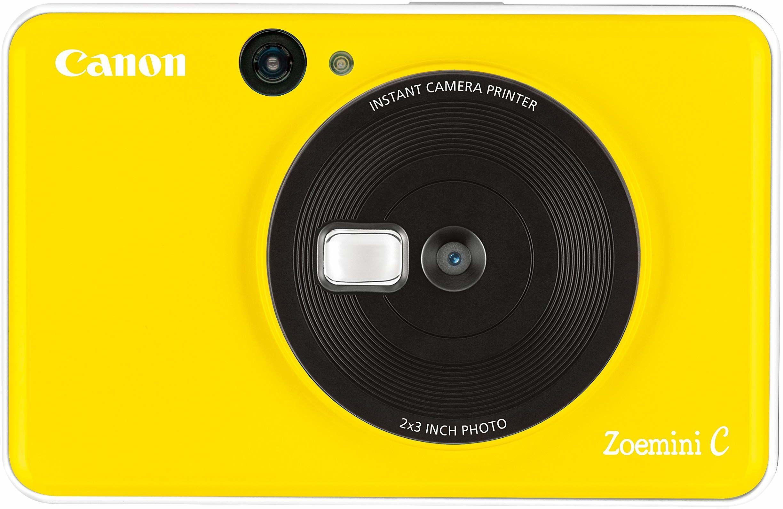 Canon Zoemini C Instant Camera & Mini drukarka fotograficzna (słonecznik żółty)  kieszonkowa drukarka do aparatu z lustrem do selfie, która drukuje natychmiastowe lepkie odbitki wspomnień w podróży