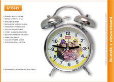 Metalowy budzik reklamowy z dzwonkami